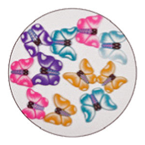 Supernail Multi Colour Butterflies Fimo Nail Art