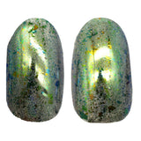 Chameleon Chrome Nail Powder No 5 Green used over gel polish to obtain chrome effect
