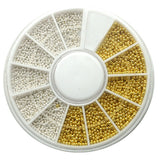 Silver and Gold Microbeads used for nail art to cover entire nail or create different shapes or lines
