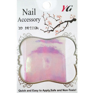 Pink Glass Nail Art Foil