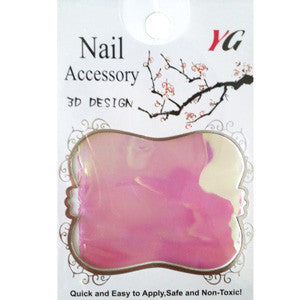 Dark Pink Glass Nail Art Foil