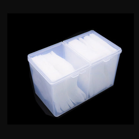 Plastic Nail Wipe 2 Part container to easily stores square nail wipes , cotton wool and many more.