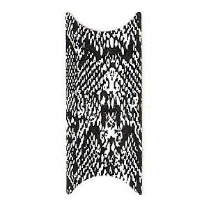 Black & White Snakeskin French Nail Foil Wrap Sheet