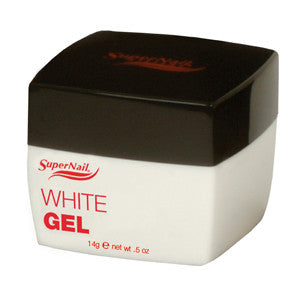Supernail White Buff Off UV Gel 14g ideal for natural looking french manicures