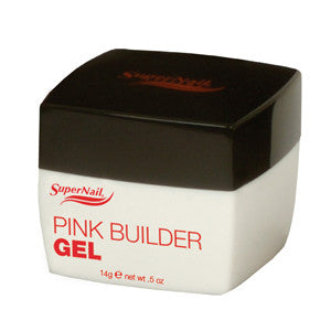 Supernail Pink Builder Buff Off Nail Gel 14g