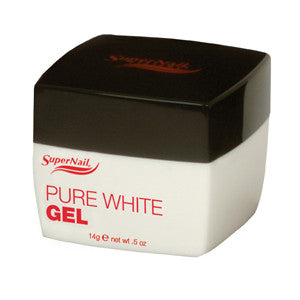 Supernail Pure White UV Buff Off Gel for a whiter than white gel for a crisp, clean smile line.