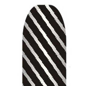 Black & Silver Stripes Full Nail Foil Wrap Sheet