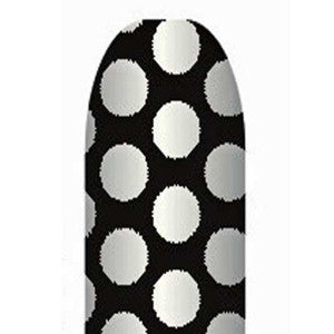 Silver Dots on Black Full Nail Foil Wrap Sheet