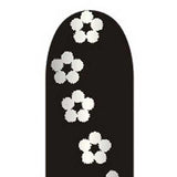Silver Flowers on Black Full Nail Foil Wrap Sheet