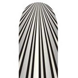 Black & Silver Stripes on White Full Nail Foil Wrap Sheet