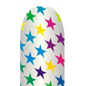 Multi-Coloured Stars Full Nail Foil Wrap Sheet