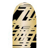 Gold Abstract on Black Full Nail Foil Wrap Sheet