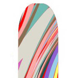 Multi-Coloured Abstract Full Nail Foil Wrap Sheet