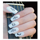 Smartnails Music Notes Nail Art Template Sheet