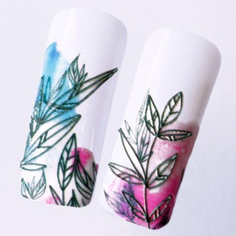 B149 3D Water Transfer Nail Art Decal