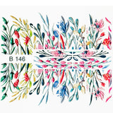 B146 3D Water Transfer Nail Art Decal Grass & Flowers