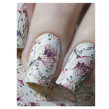 B09 3D Pastel Poppy Water Transfer Nail Art Decal use on nail varnish or gel polish.