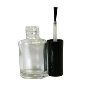 Clear Glass Nail Varnish Bottle 10ml