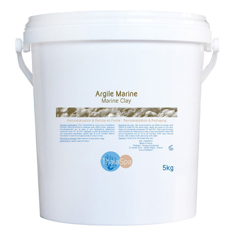 Thala Marine Clay 5kg re-mineralizing and purifying body wrap based on Marin Clay and Alginates, ThalaMarine is especially rich in both minerals and trace elements.