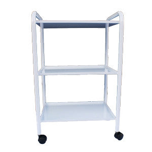 White Three Tier Small Metal Trolley