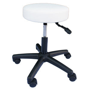 White Manicure Gaslift Stool