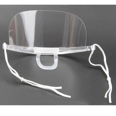 Re-usable Plastic Face Mask covers nose and mouth with elasticated loops