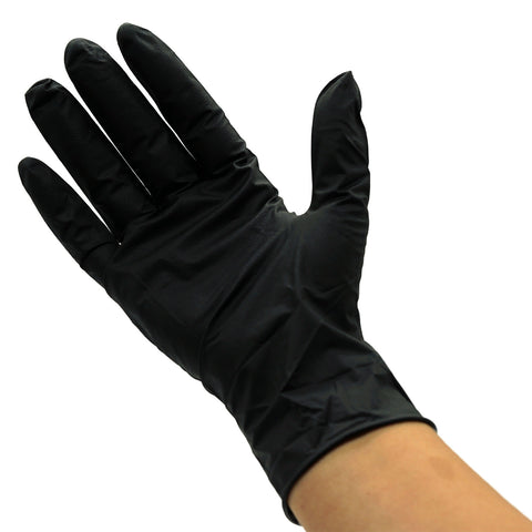 Max Guard Small Black Nitrile Gloves 50 pairs in dispenser cartion