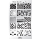 Konad Stamping Plate no 14 comes in Konad Square Kit