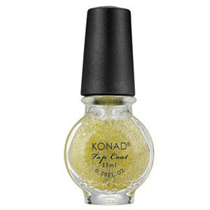 Konad Stamping Top Coat Glitter Gold 11ml for sealing nail art designs