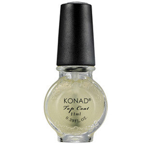 Konad Stamping Top Coat Matte 11ml to seal nail art designs and give matt finish