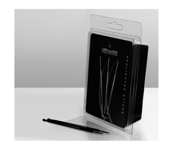 Lash beLong Applicator Sticks are used with Adhesive Remover to remove eyelashes