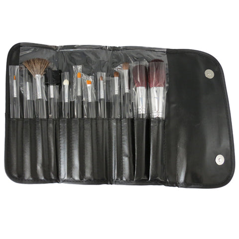 Leonelda 12 Piece Makeup Brush set in Vinyl Case