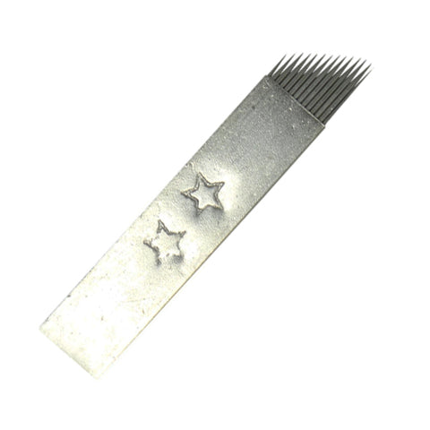 14CF 2 Star Steel Cover Micro Blading Needle