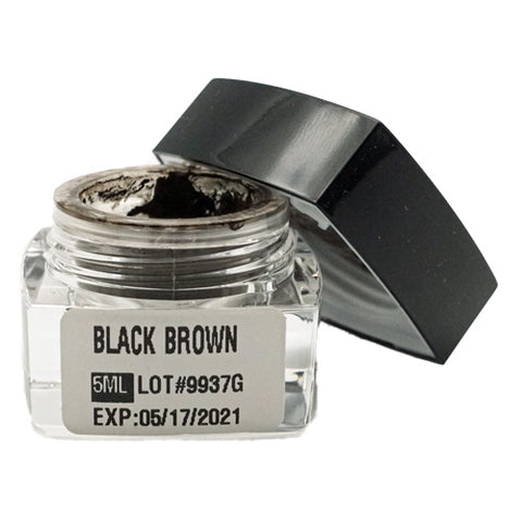 Black Brown Microblading Cream Pigment 5ml for eyebrows
