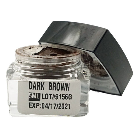 Dark Brown Microblading Cream Pigment 5ml for eyebrows