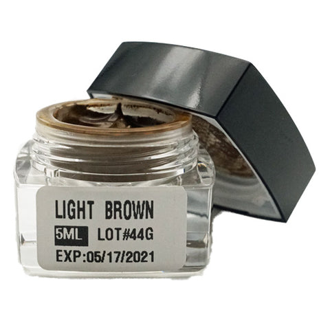 Light Brown Microblading Cream Pigment 5ml for eyebrows