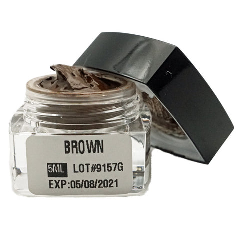 Brown Microblading Cream Pigment 5ml for eyebrows