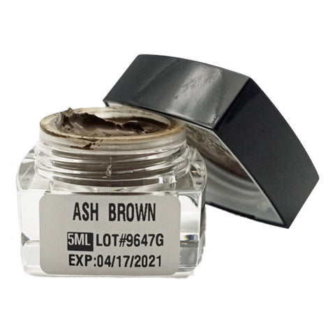 Light Ash Brown Microblading Cream Pigment 5ml gfor eyebrows