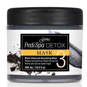 Gena Pedi Spa Detox Black Charcoal Nourishing Mask 454ml