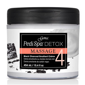 PediSpa Detox Black Charcoal Emollient Créme 454ml