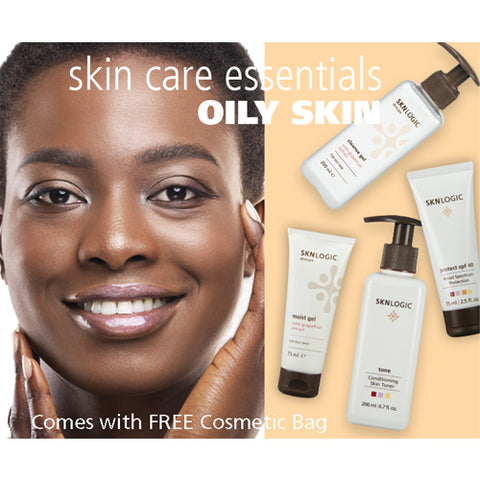 SknLogic Oily Skin Facial Product Retail Essential Kit