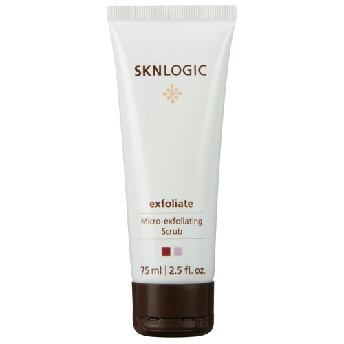 SKN logic exfoliate in 75ml is a powerful skin polisher that combines natural and chemical exfoliants to refine skin texture and enhance penetration of actives into skin
