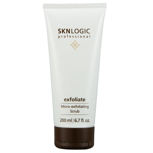 SKN Logic Exfoliate in 200ml is a powerful skin polisher that combines natural and chemical exfoliants to refine skin texture and enhance penetration of actives into skin