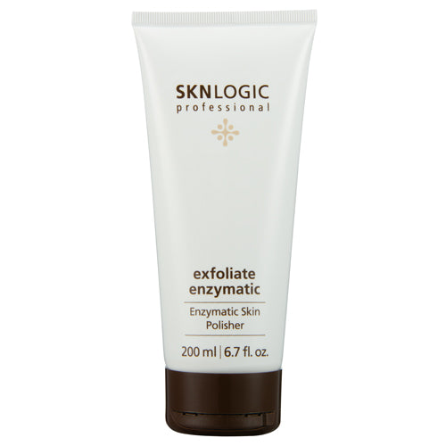 SKN Logic in 200ml enzymatic exfoliator is a powerful skin polisher that combines natural and chemical exfoliants to refine skin texture and enhance penetration of actives into skin