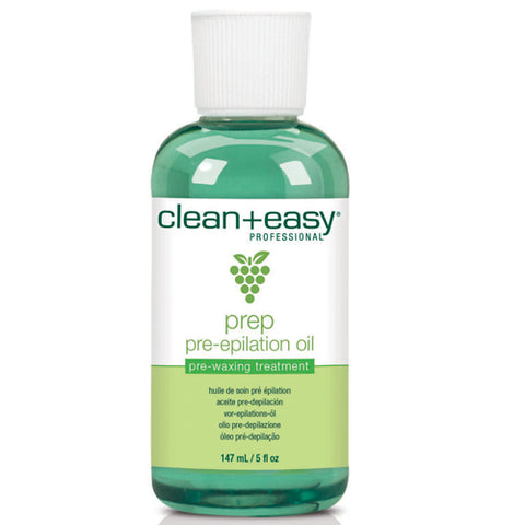 Clean+easy Pre Epilation Oil 147ml for use with clean+easy Brazilian waxing
