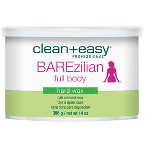 Clean+easy Bare-zillian Hot Wax 396g for male & female full body waxing