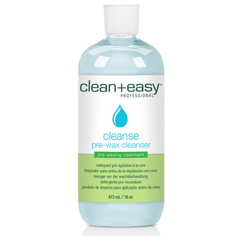 Clean+easy Cleanse Antiseptic Cleanse in 473ml bottle for prewax cleansing to ensure effective hair removal