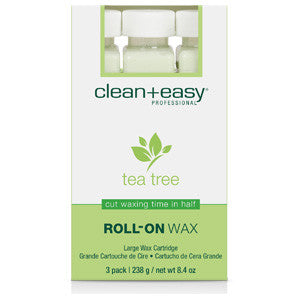 Clean+easy Tea Tree Large Body Wax Refill 3's