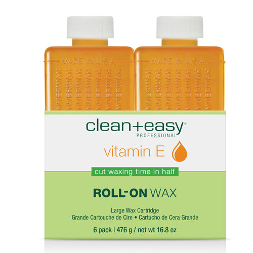 Clean+easy Vitamin E Large Body Wax Refill 6's to be used for waxing large body area