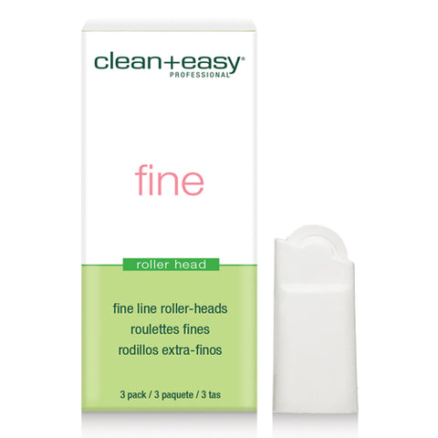 clean+easy Super Fine Wax Roller Heads 3's fit clean+easy facial wax cartridges